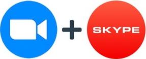 Zoom plus Skype